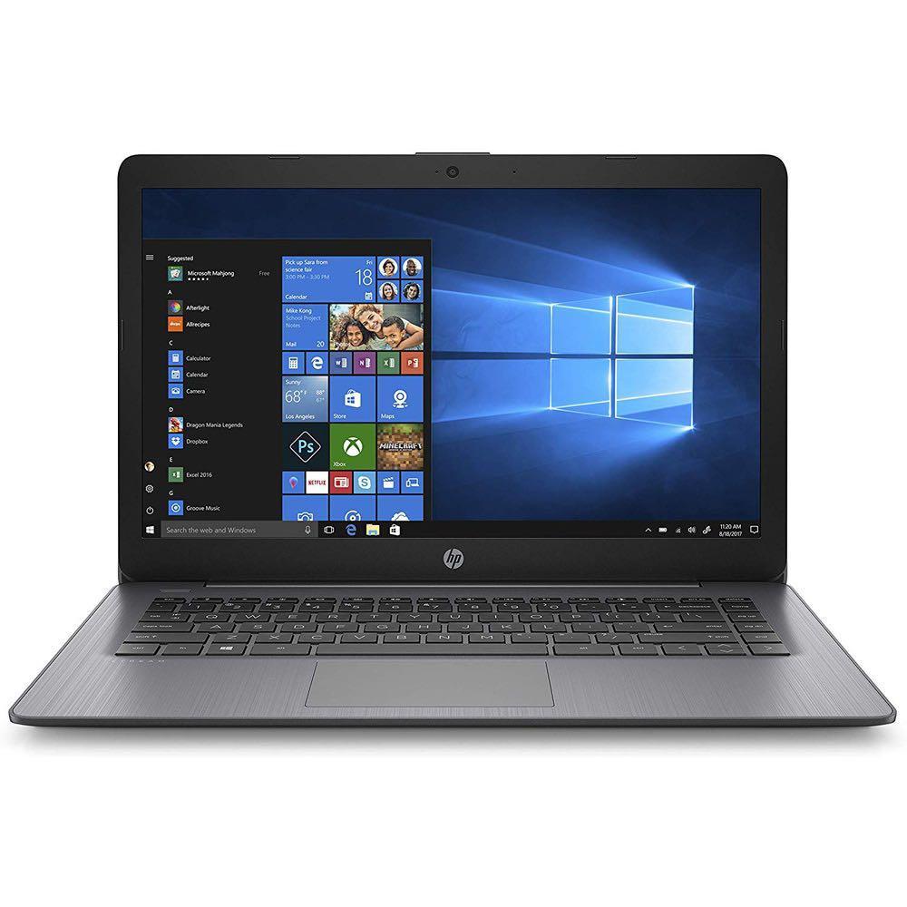 HP 14-cb164wm Stream 14″ HD Celeron N4000 1.1GHz 4GB RAM 32GB eMMc Win 10 Home S Brilliant Black