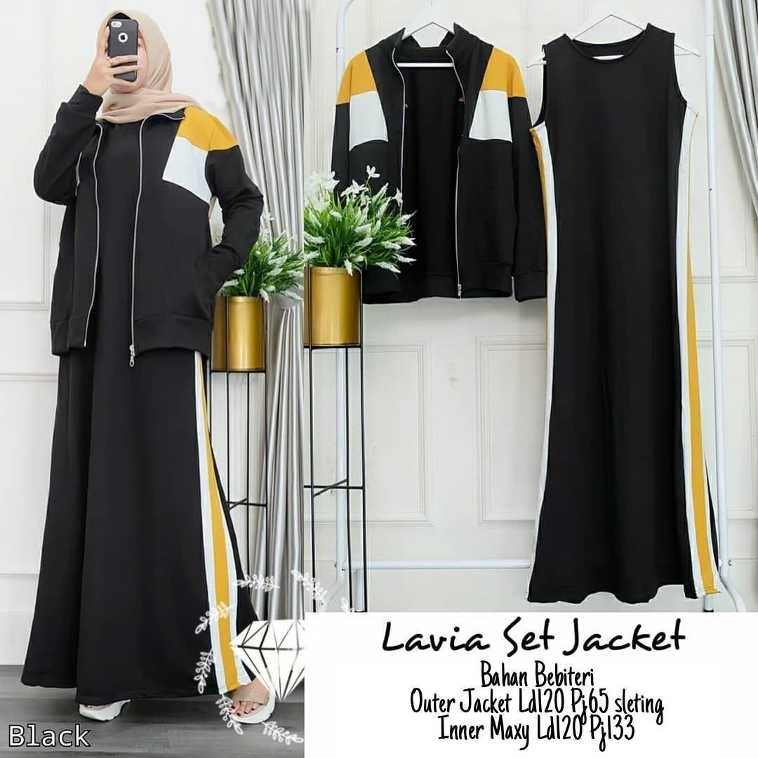 Lavia Set Jacket (Mustard White Black Grey) Rp135.000. Matt bebiteri full, Outer jacket Ld120 Pj65 sleting, Inner Maxy Ld120 Pj133.