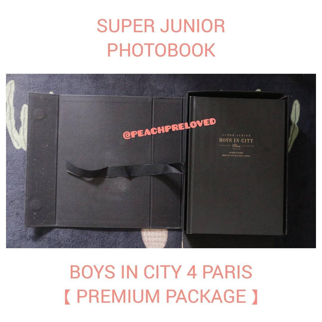 Super Junior Boys in the City 4 in Paris Photobook [Premium Package] [Korean Version]