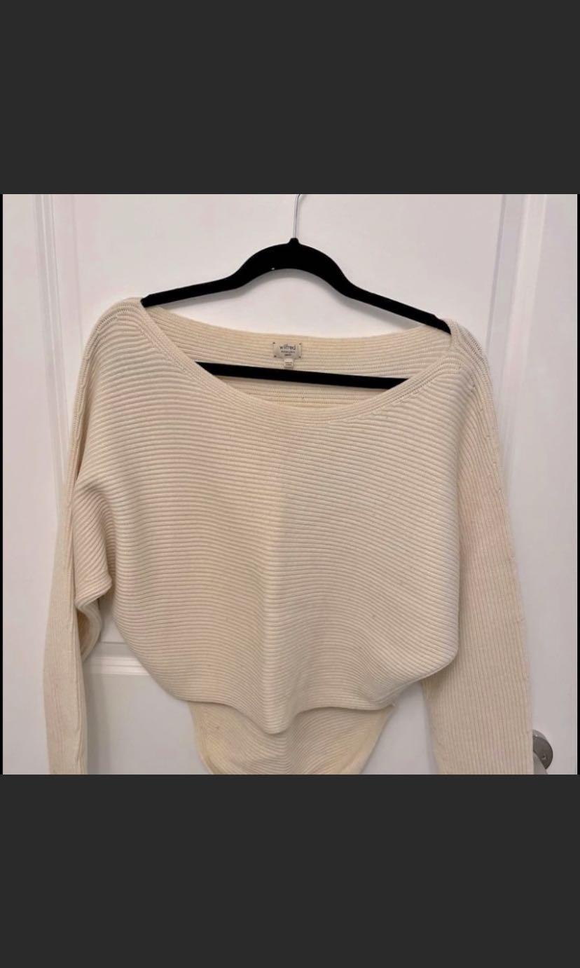 Wilfred Cream Wool Sweater