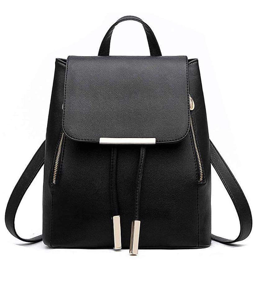 Women's black mini back pack