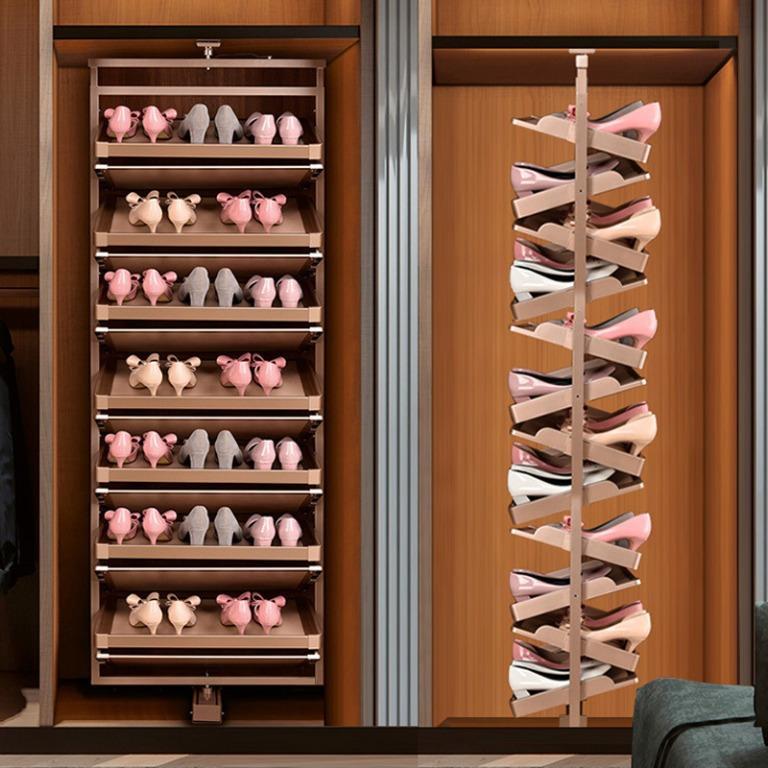 Hrb 360 Degree Rotating Shoe Rack, Rotating Shoe Storage
