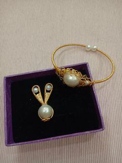 ✨✨✨天然珍珠手環飾品組