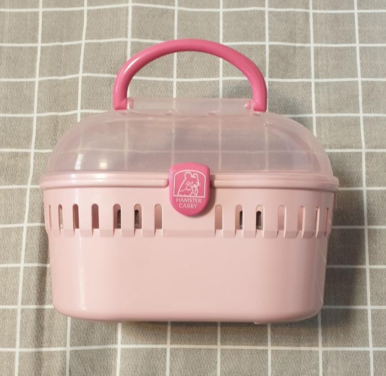 二手 日本IRIS《半球型》鼠用造型提籠 小動物外出籠 (HQ-250) 粉紅