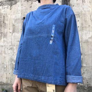 無印良品 MUJI 藍染 套衫 印度棉