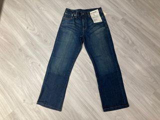 全新品 Muji organic denim relax fit 日本無印良品有機棉寬鬆牛仔褲 79腰