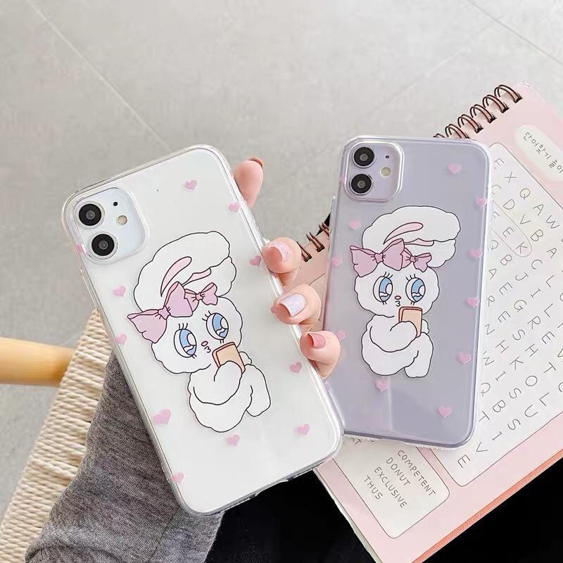 可愛兔/繽紛透明手機殼#兔子 #rabbit #q #iPhone #iphone手機殼 #七彩繽紛 #多色可選 #包色款 #包色