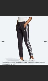 Adidas primblue track pants- black