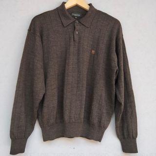 Sweater Rajut Kancing Coklat