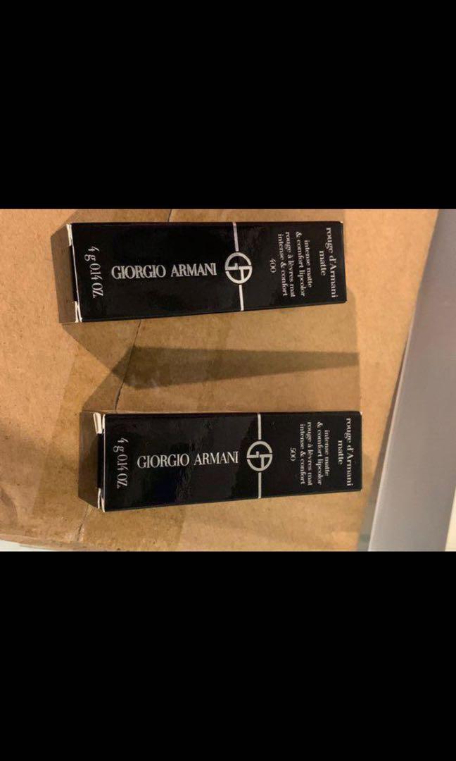 BNIB Giorgio armani lipsticks