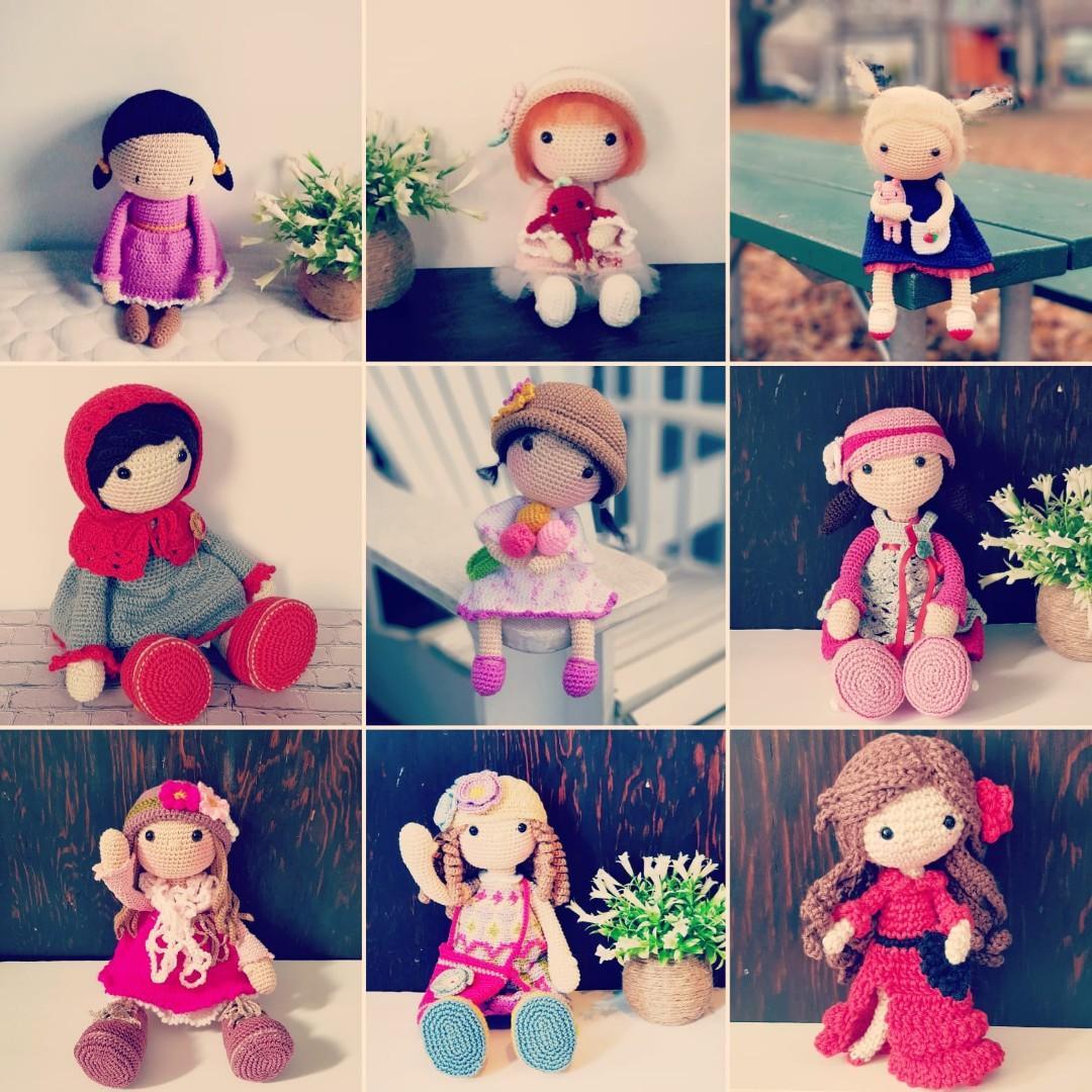Handmade Crochet Dolls - Ready to ship