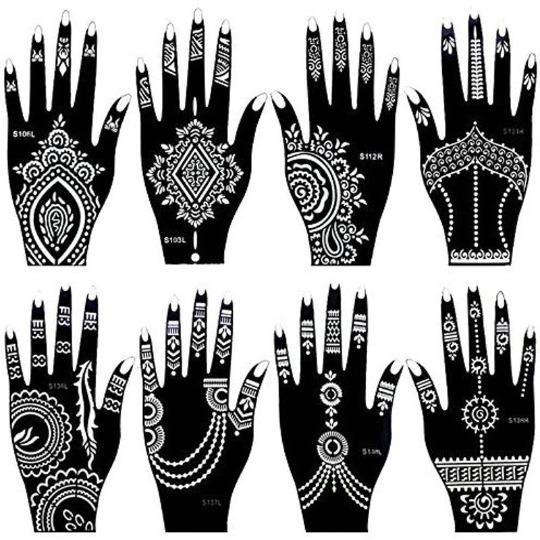 Henna Tattoo Stencil Pack of 10