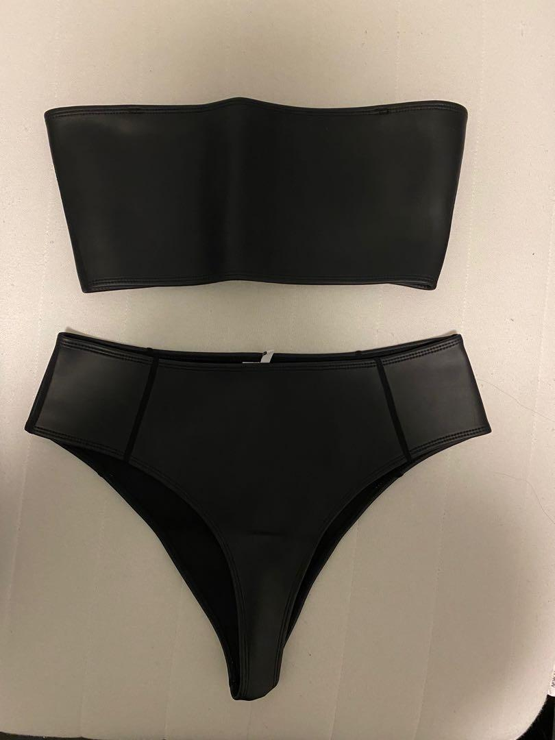HOAKA SWIMWEAR Black bandeau Set