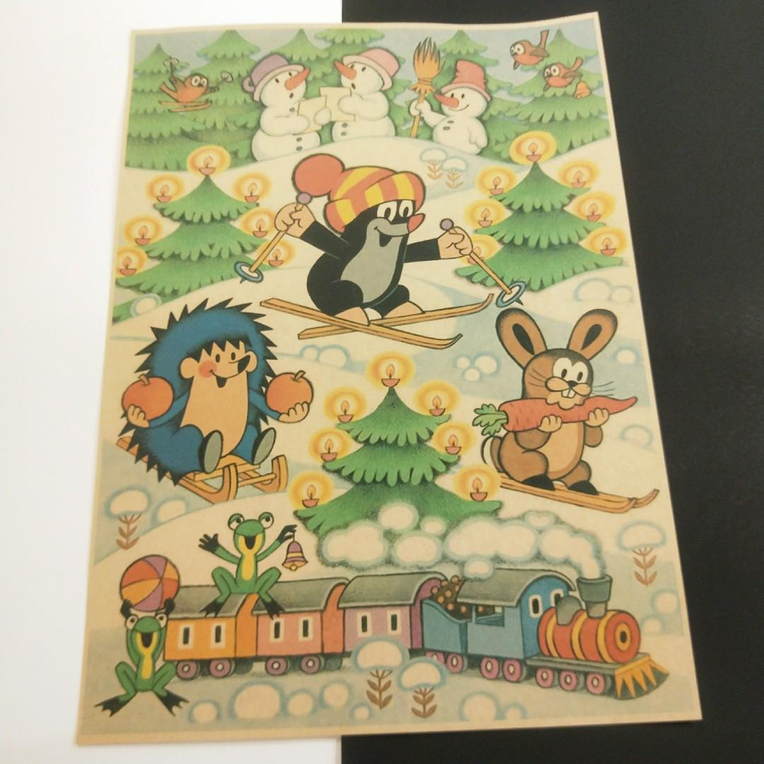 Krteček 鼴鼠的故事 小鼴鼠妙妙奇遇記 復古 兒童 動畫 卡通 插畫 A3 牛皮紙 牛皮海報 卡通  裝飾 壁紙