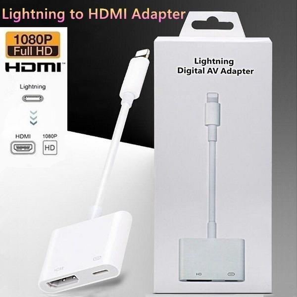 Lightning To Digital AV HDMI Adapter for Apple iPhone iPad and iPod