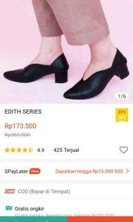 Lomari Edith Black/ Flatshoes wanita hitam/ heels wanita