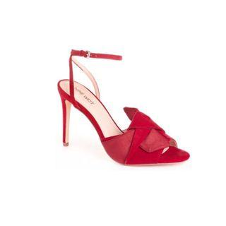 New Nine West Josse Sandals In Red Size 8
