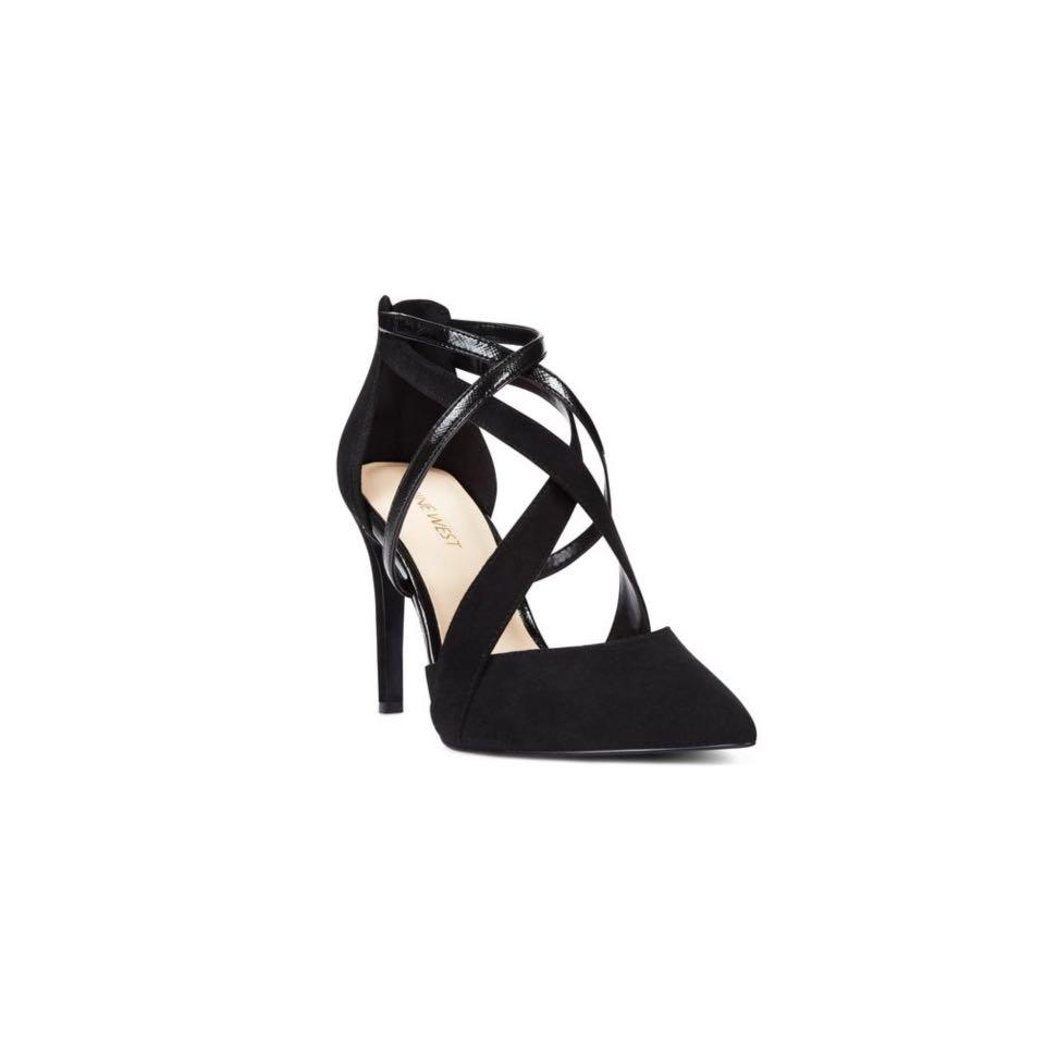 New Nine West Strappy Heel In Black Size 8