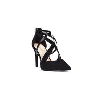 New Nine West Strappy Heel In Black Size 8