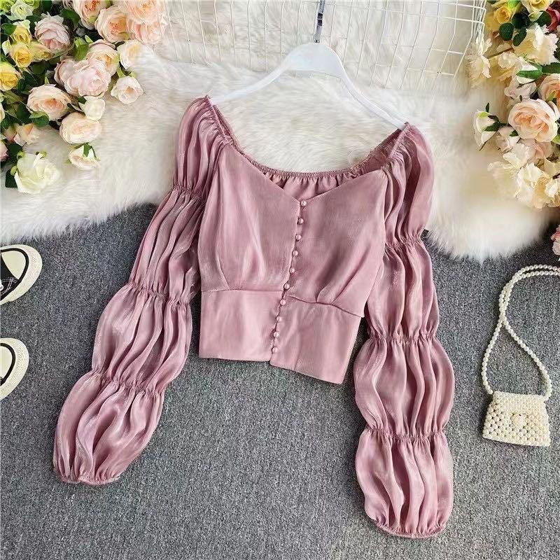 Pink or black crop top