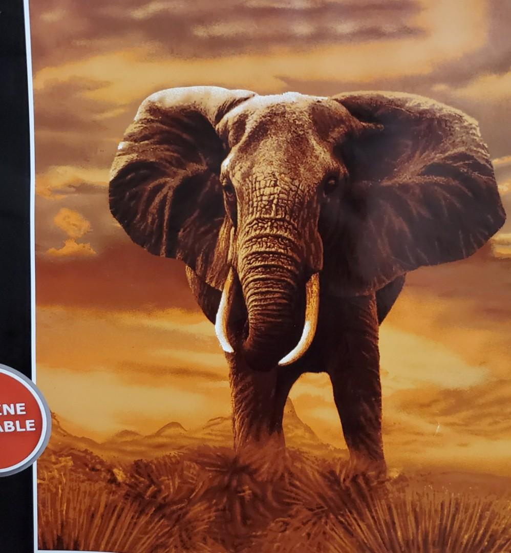 Plush blanket Elephant size Queen