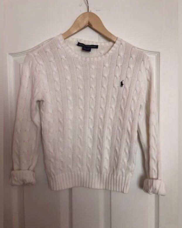Ralph Lauren polo white knit sweater