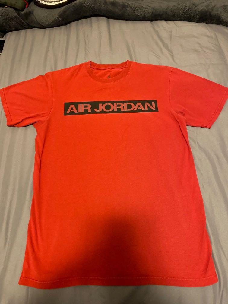 Red air Jordan shirt