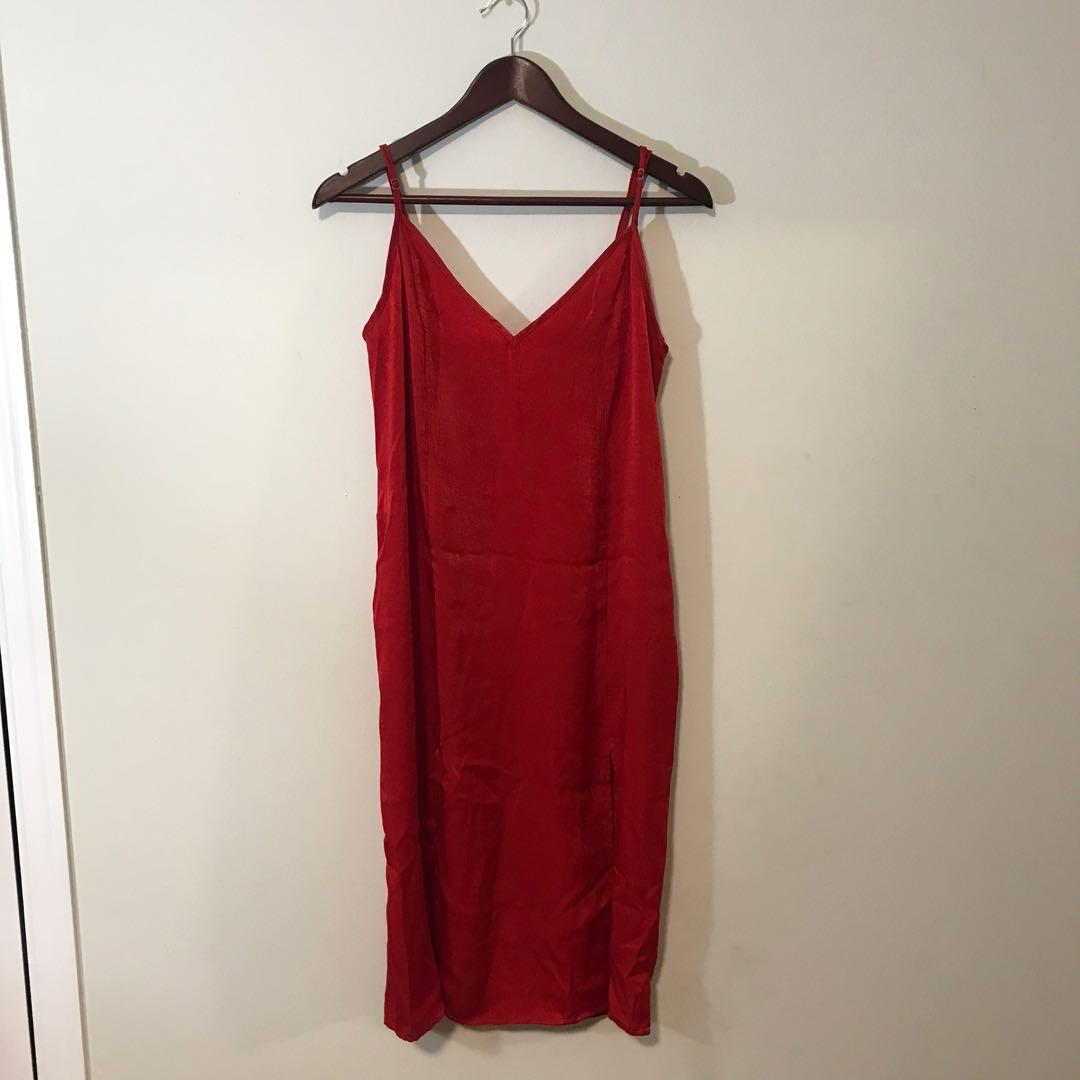 UO Satin Slip Dress