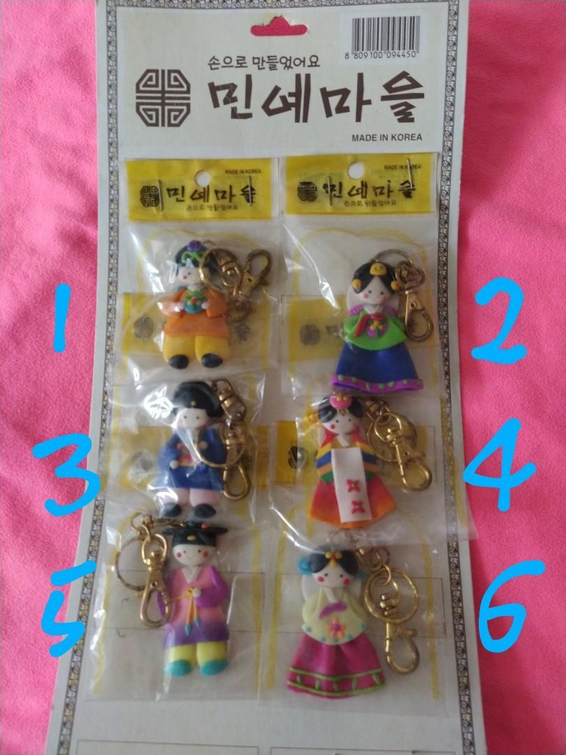 全新韓國旅遊帶回經典韓服鑰匙圈(可吊包包上裝飾