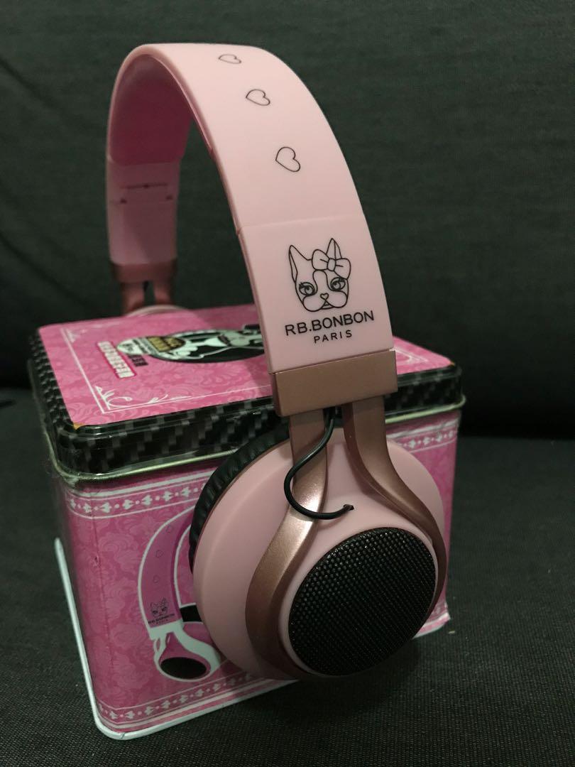 可愛 炫光耳罩式無線藍芽耳機