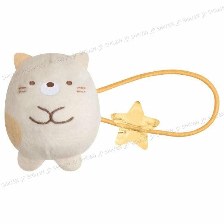 角落小夥伴-貓🇯🇵絨毛玩偶造型彈力髮圈 綁頭髮 髮束 髮飾