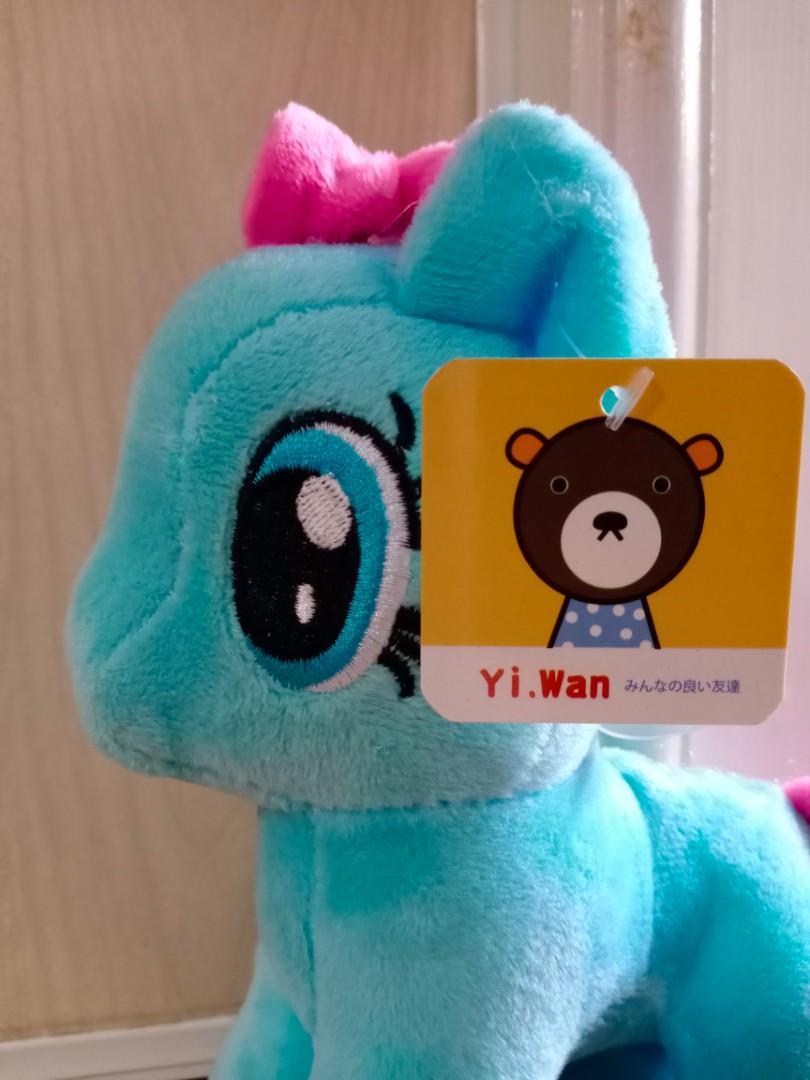 彩虹小馬 藍色小馬 撞色 玩偶 公仔 吊飾 擺設 設計 佈置 絨毛玩偶