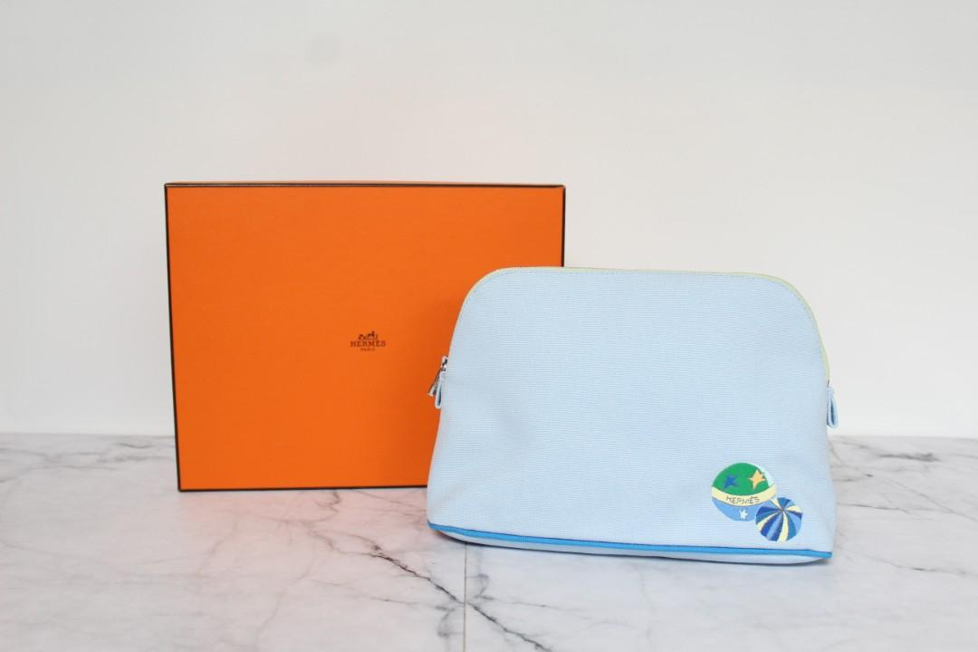 Authentic Hermes Pouch/Clutch💛💚💜 Lucuk banget.. Never been used