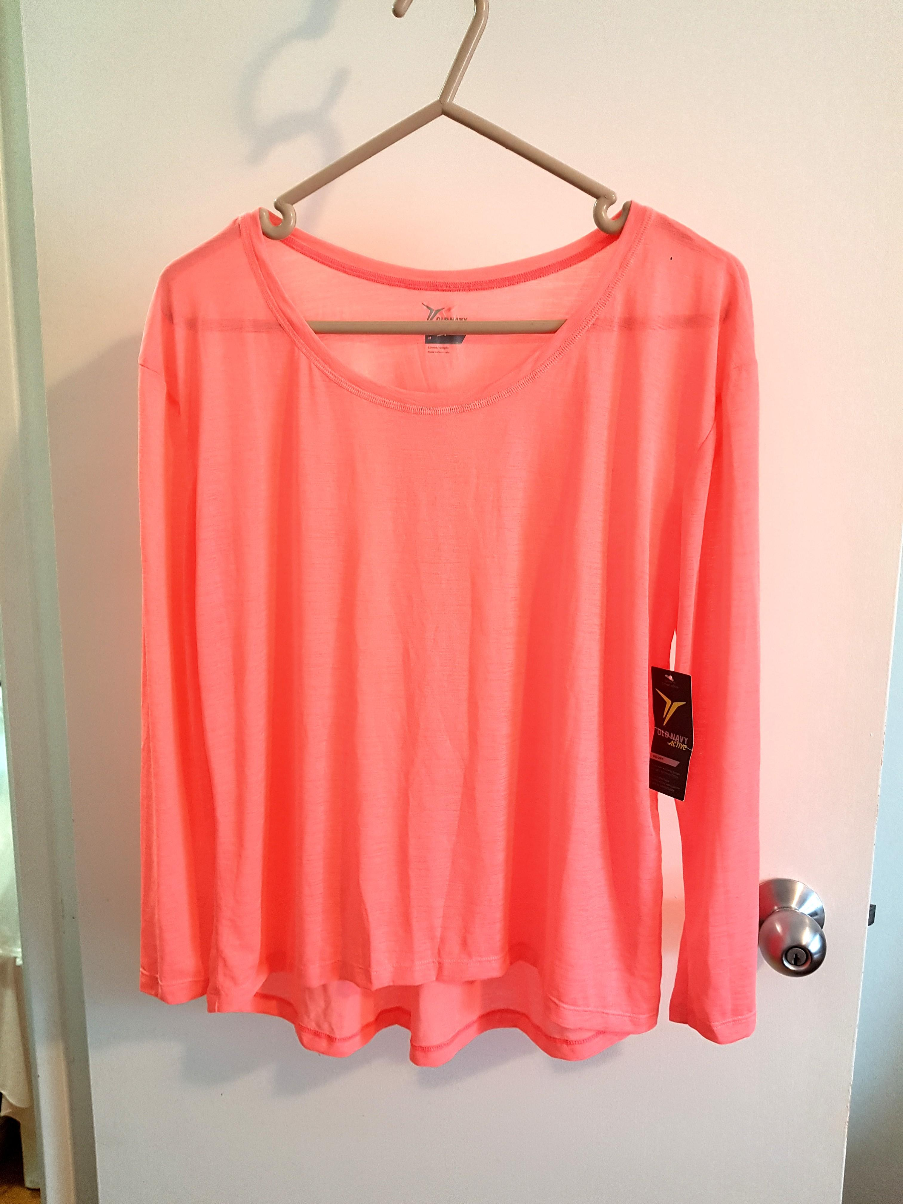 BNWT Old Navy Active top, bright peach
