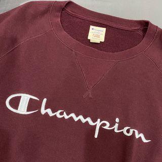 Champion 古著 酒紅色大學T