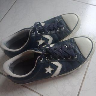 Converse All Star Player EV OX Leather Navy Blue/White