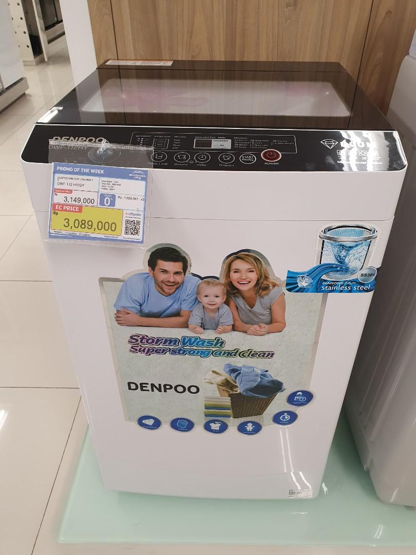Dp Mulai 0% Mesin Cuci Denpoo 7Kg Top Loading Proses 3 Menit