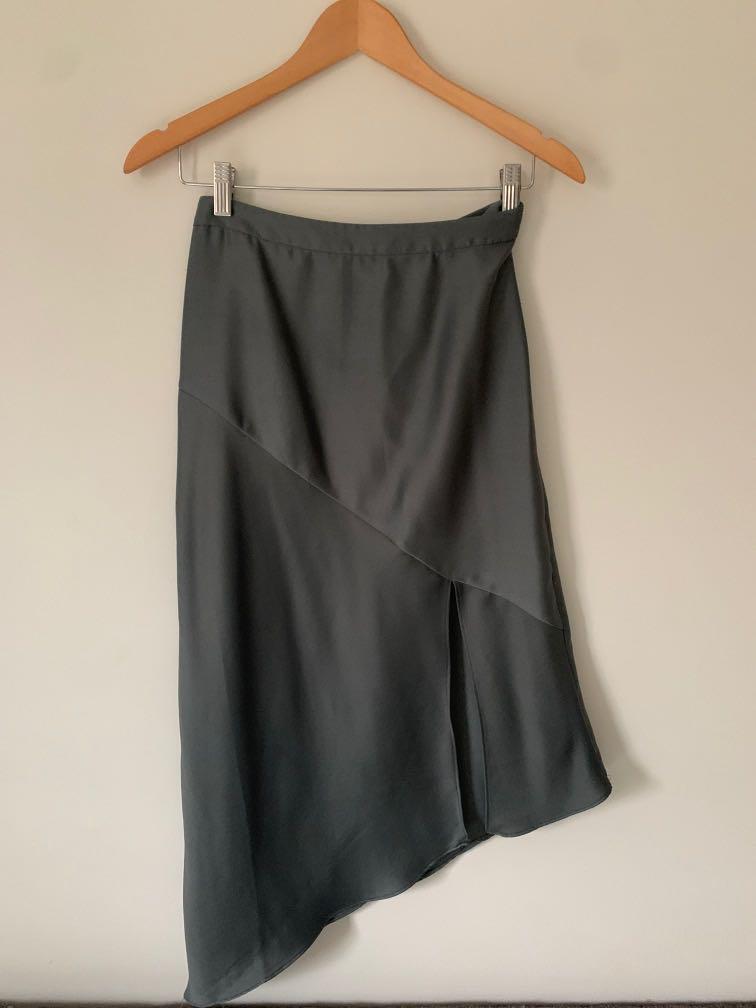 Dynamite silk skirt with slit