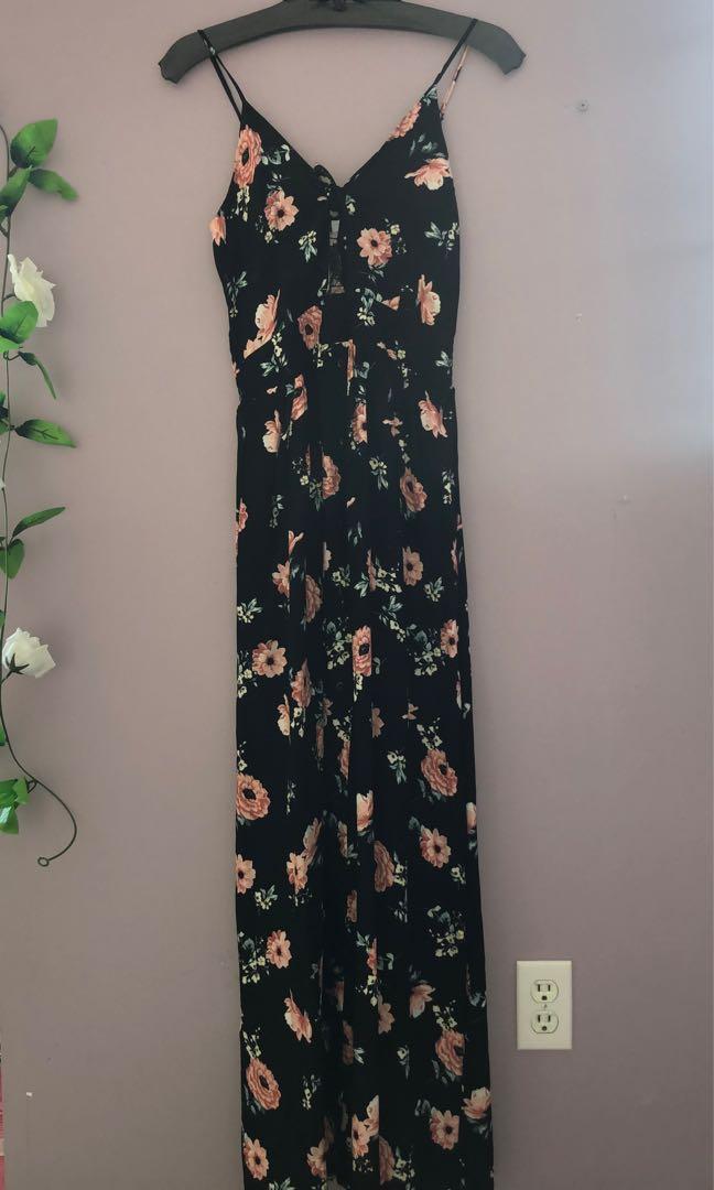 Floral Maxi Dress (Urban Planet)
