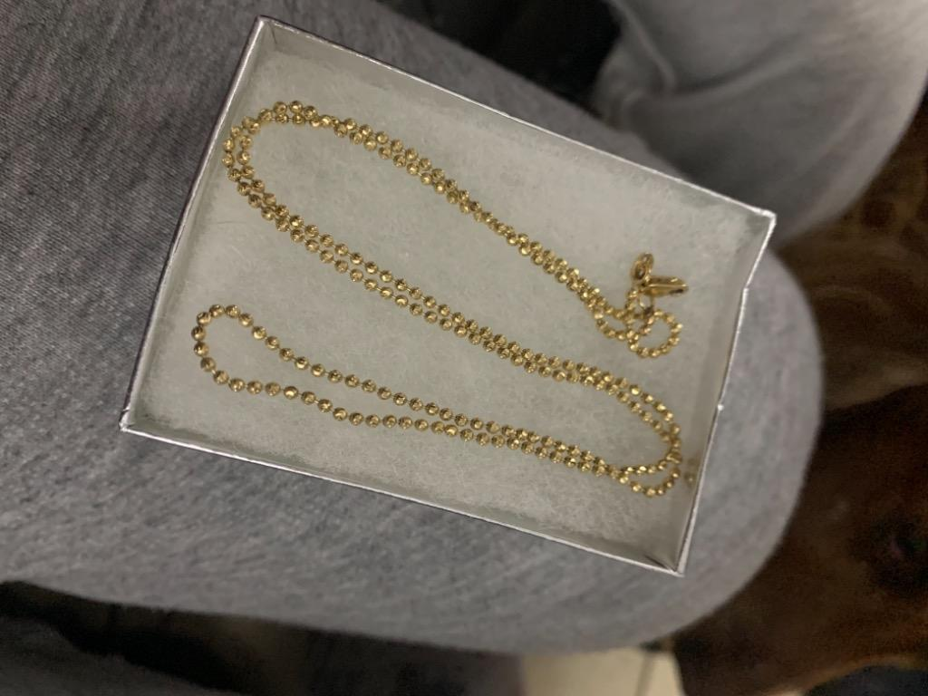 Gold womens necklace 14k