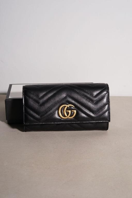 GUCCI GG Marmont Continental Wallet in Black