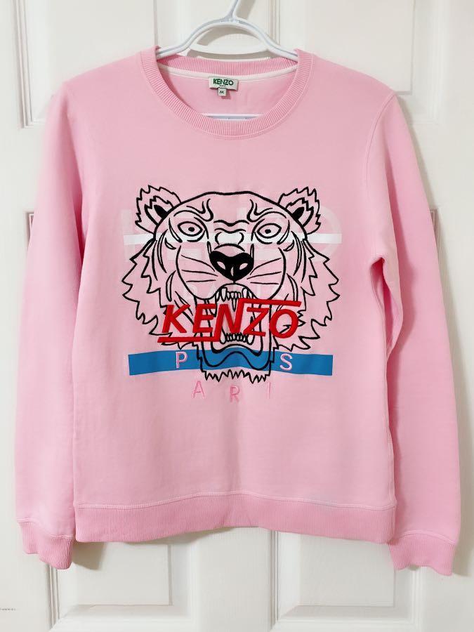 KENZO tiger sweatshirt pink authentic