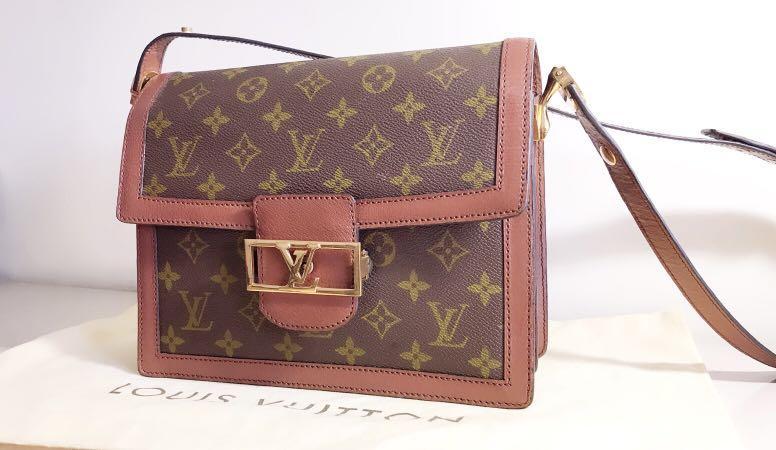 過年週末限定 43000 拋售 LV Dauphine 達芙妮Louis Vuitton路易威登經典老花金釦斜背側背手提包 #lv #老花 #vintage