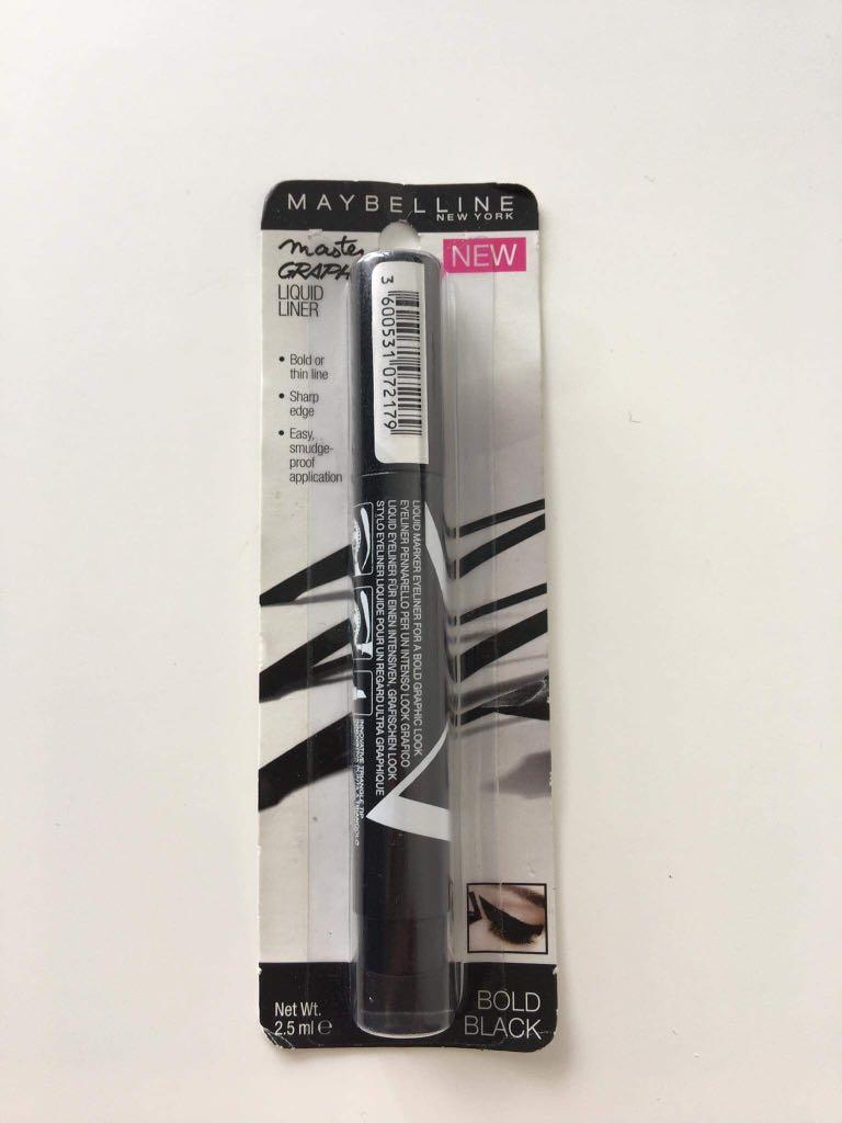 Maybelline New York Master Graphic Liquid Liner Bold Black 2.5ml