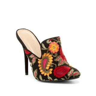 New Wild Diva Embroidered Mules Size 5 & Size 8