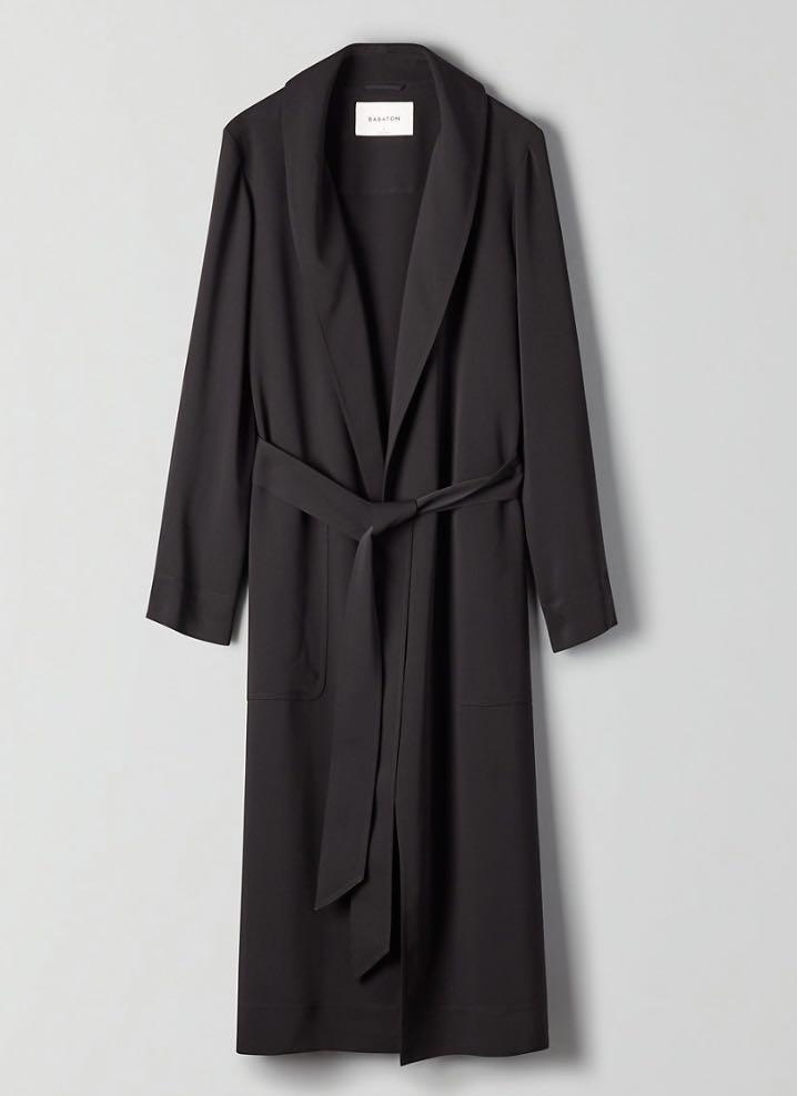 NWT Aritzia Babaton kahlo robe black xs