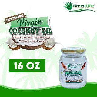 100% Organic Virgin Coconut Oil 160z
