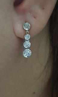 Pair earring dangling diamond
