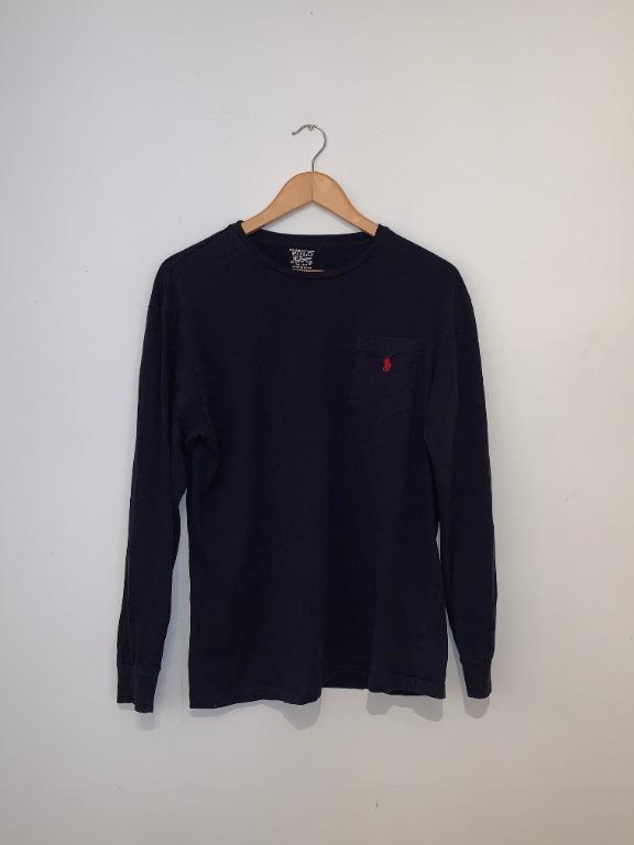 Polo Ralph Lauren Navy Long Sleeve with Front Pocket