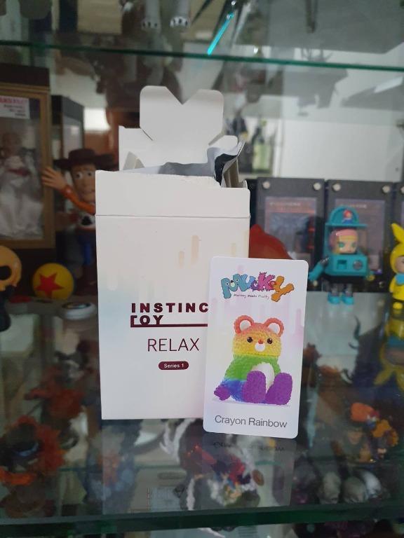 POP MART 泡泡瑪特 大久保 休息系列 彩虹熊